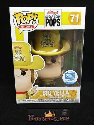 Big Yella Funko Pop Shop Exclusive Ad Icons Sugar Pops Mascot #71 Cowboy Rare
