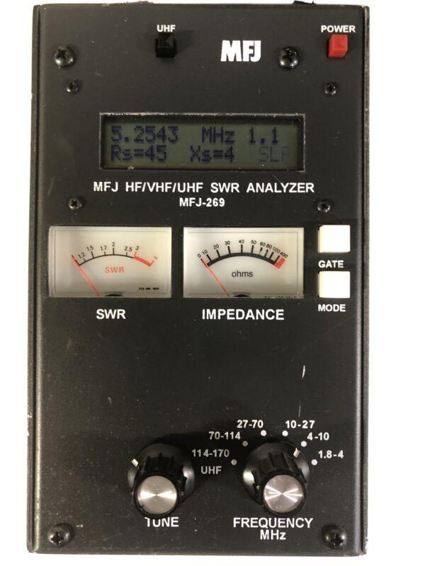 MFJ-269 HF/VHF/UHF Antenna Analyzer w/ frequency counter