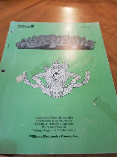 Williams Hurricane pinball manual