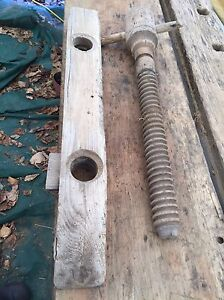 """Antique vintage work bench 9ft X 22"""" with two screw vises Kingston Kingston Area image 2"""
