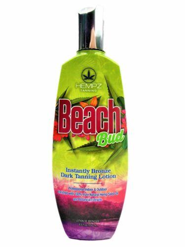 NEW 2017 Hempz Beach Bud Dark Tanning Lotion 8.5 oz + FREE S