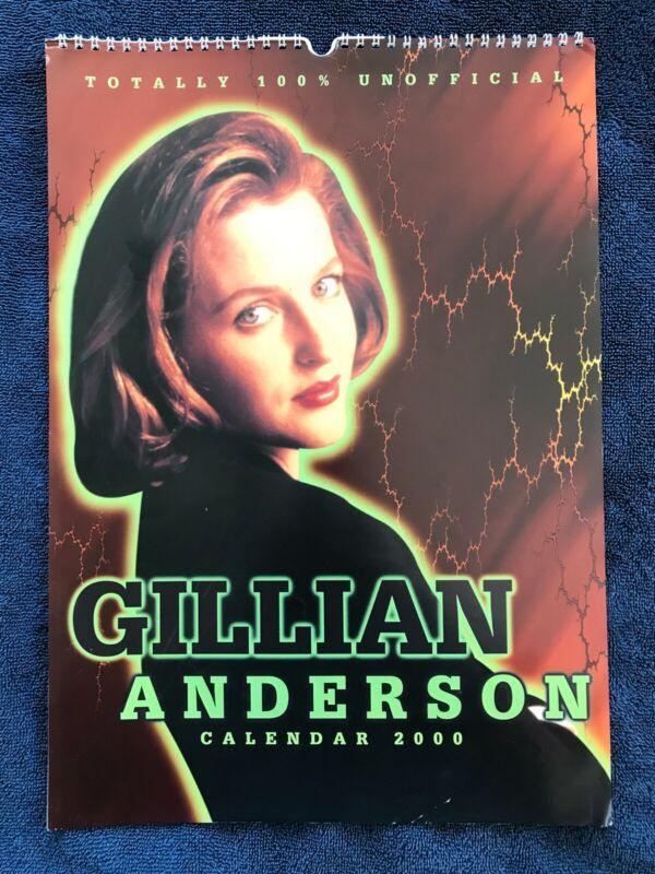 2000 Gillian Anderson Unofficial Wall Calendar British Import Oversize