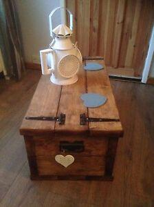 Handmade Coffee Table With Storage/ Storage Box/ Blanket Box/ Toy Box ..