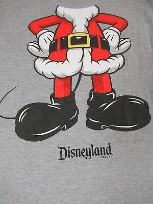 Disney - Mickey da Weihnachtsmann - Kostüm - Medium Gray T-Shirt - - Männliche Disney Kostüm
