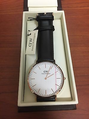 NEW Daniel Wellington (DW) Men's Rose Gold Watch (BLACK) - FAST SHIPPING