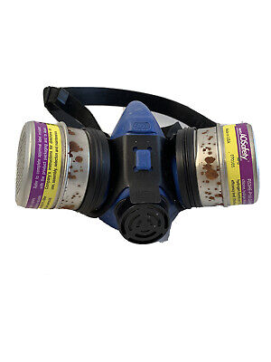 Ao Safety Half Mask Dual Element Respirator 50301 Medium Includes Dual Filters