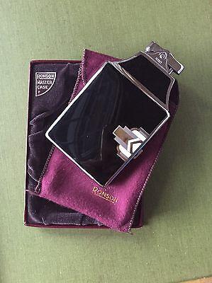 Vintage Art Deco Ronson Lighter and Cigarette Holder, Never Fire In Original Box