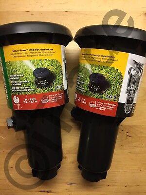**Lot of 2** Rain Bird MAXI-PAW AG-5 Pop Up Rotary Impact Sprinkler NEW Free SH