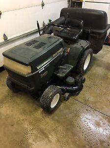 Craftsman lawn tractor with the snowblower attachment and bagger