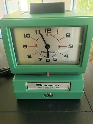 Acroprint - New Old Stock Time Recorder Time Clock- 125qr4