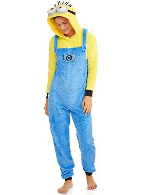 Neuer Frauen Minions Kapuzen Pyjamas Kostüm Union Anzug Xs S M L XL - Mini Minion Kostüm