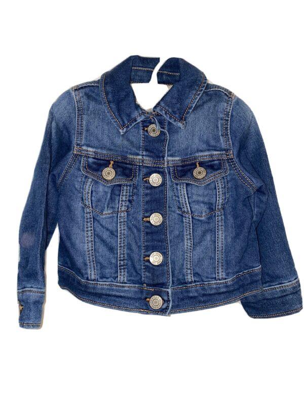 Baby Gap classic denim blue jean cotton jacket size 18 to 24 months