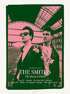 British Rock: The Smiths  * The Queen is Dead * Tour Poster 1986  12x18