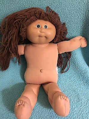 Vintage 1985 Cabbage Patch Kid With Brown Hair And Brown Eyes