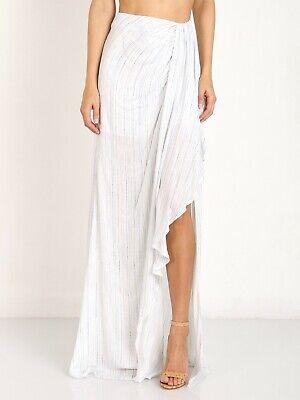 The Jetset Diaries Mystical Maxi Skirt Stripe Ruffle Blue/White XS -