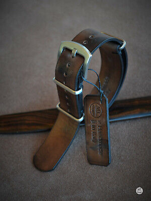 20 mm Cinturino nato artigianale mtstraps Handmade Vintage Leather Watch Strap