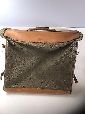 Hartmann Belting Leather Tweed Garment Luggage Four Suiter Large Suitcase -