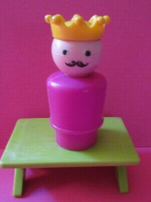 993 Fisher Price Little People Vintage    CLASSIC CASTLE PINK  PLASTIC KING