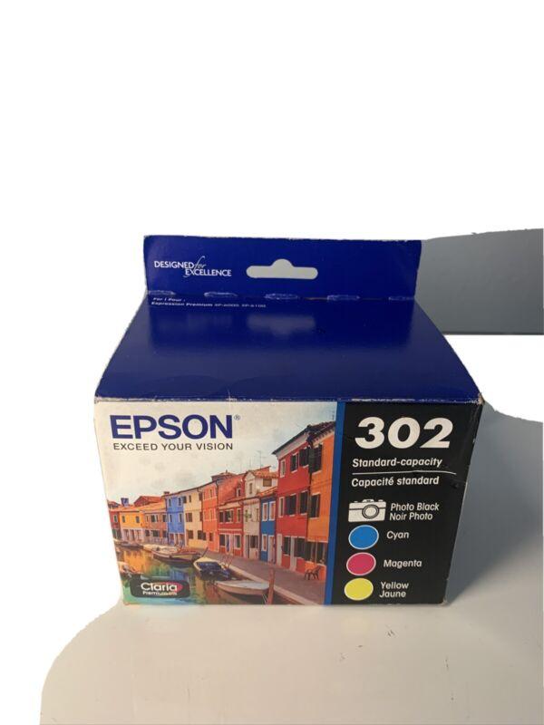 Epson 302 Photo Black & Cyan Magenta Yellow Ink Cartridges T302520 Genuinesealed