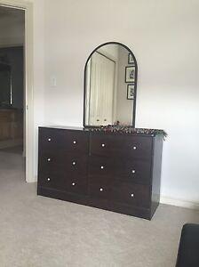 6 drawer dresser dark brown