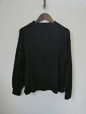 Tandey Orone オローネ Japan Made Black Pure Wool Jumper RRP$232