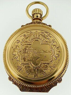 WALTHAM Antique Pocket Watch-18S~Elegant Solid 14Kt Gold Box Case~1883~150 Grams