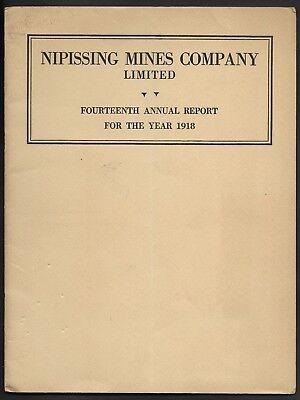 1918 Nipissing Mines Company Annual Report - Original - Map of Properties