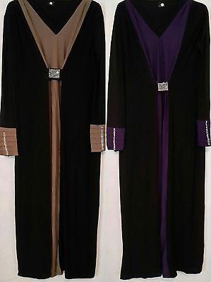 Ladies New Kaftan Abaya Jilbab Islamic Cocktail Long Sleeves Maxi Loose Dress