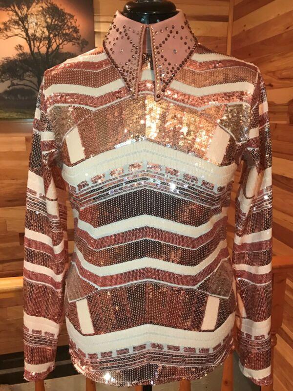 Western pleasure horse show shirt, rail shirt, horsemanship shirt, horsemanship