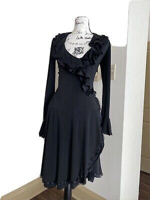 ROBERTO CAVALLI Black Flamingo GORGEOUS Dress size 40 EUC