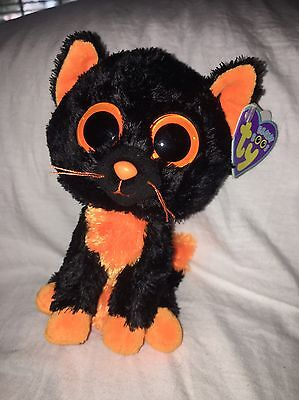 """Ty Beanie Boos - MOONLIGHT the 6"""" Cat 2012 NEAR MINT w/tag Free Shipping"""