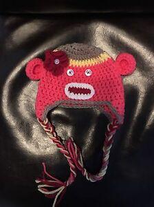 Adorable Newborn Girl Monkey Hat