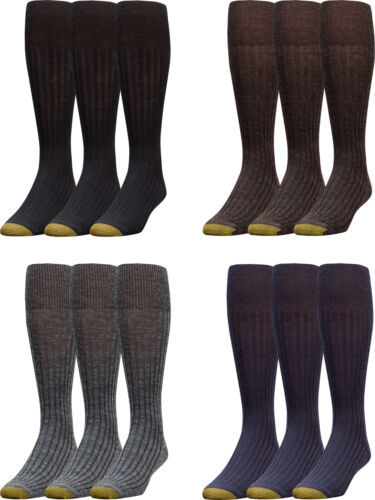 Gold Toe Men's Windsor Wool-Blend Over-the-Calf Dress Sock,