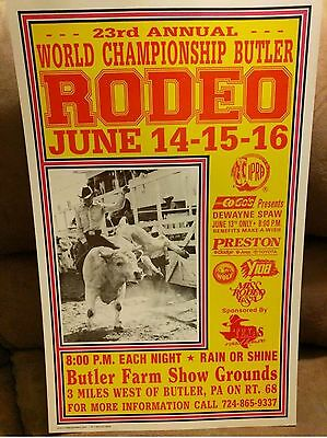 OLD BUTLER PA 23RD ANNUAL WORLD CHAMPIONSHIP​ RODEO CARDBOARD ADVERTISING SIGN