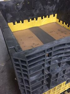 Plastic Totes For sale.    Pallet size - 2 available
