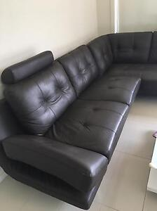 90% new leather sofa for sale Sunshine West Brimbank Area Preview