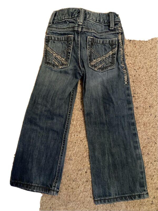 Boys Size 4T Slim With Adjustable Waist Wrangler 20x Jeans Western Cowboy