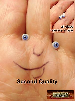 M00051 MOREZMORE Glass Eyes SECONDS 4mm 1:6 1/6 Scale BLUE Small Miniature T20