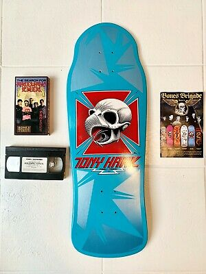 Powell Peralta Tony Hawk Cobalt Skull Animal Chin 30th Anniversary Skateboard