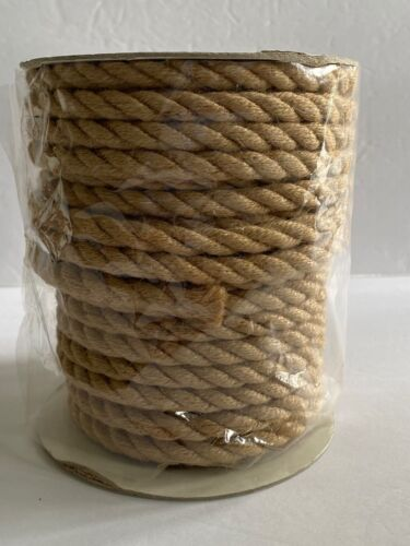 """Spool of 3/8"""" Natural Jute Cord Rope For Crafts Macrame Approximately 22 Yards"""