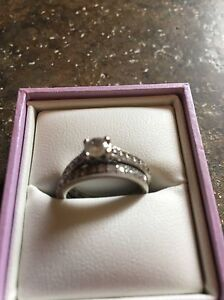 Engagement ring with wedding band from Michael's