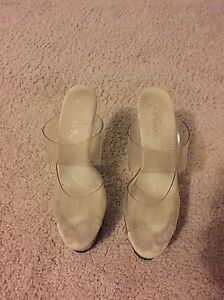 Fitness. Competitor High clear heels with platform Size 8  London Ontario image 3