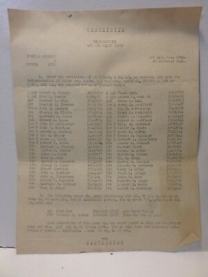 1944 Awards Letter Headquarters 42D Air Depot Group Army Air Corp