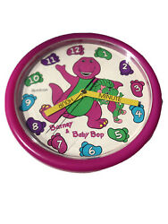 Barney The Purple Dinosaur Wall Clock Teach Me Time Baby Bop 10 Round 1993