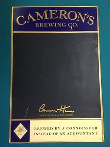 Cameron's Brewing Co Chalkboard beer sign