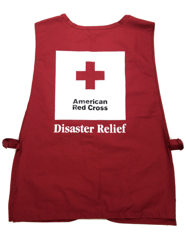 VTG AMERICAN RED CROSS DISASTER RELIEF VEST SZ Large/XL