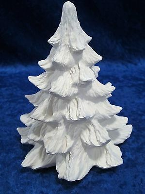 Ready to Paint Ceramic Bisque 6 inch Christmas Tree, unpainted; U-paint