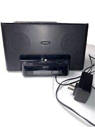 SONY Model ICF-CS15ip iPhone/iPod Clock Radio Speaker Dock - No Remote