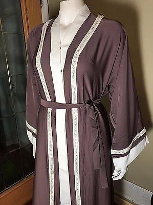 Fancy Khaleeji Abaya Arabic Button Up Half Open Jilbab Made in Dubai M, L, XL