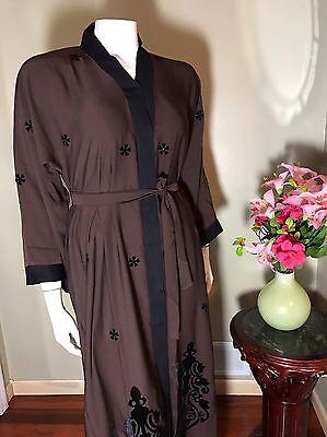 Fancy Khaleeji Abaya Arabic Button Up Half Open Jilbab Dubai Size L